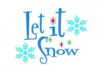 Let it Snow 6X10 Hoop