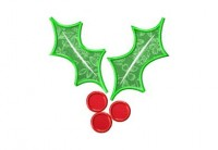 Christmas Holly Applique 6 Inch