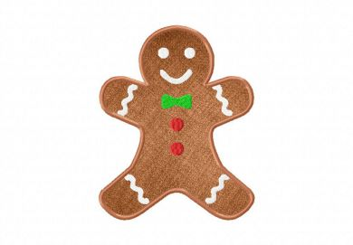 Christmas Gingerbread Man Embroidery Design Includes Both