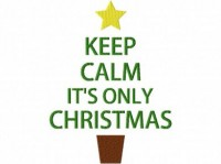Keep Calm Christmas 6X10 Hoop