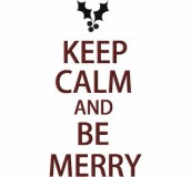 Keep Calm Merry 6X10 Hoop