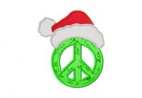 Peace and Christmas Applique 6 Inch