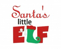 Santa Little Elf 6X10 Hoop