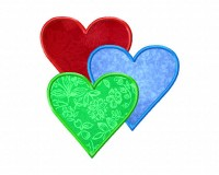 Three-Hearts-Applique-6-Inch