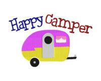 Happy Camper Stitched 6X10 Hoop