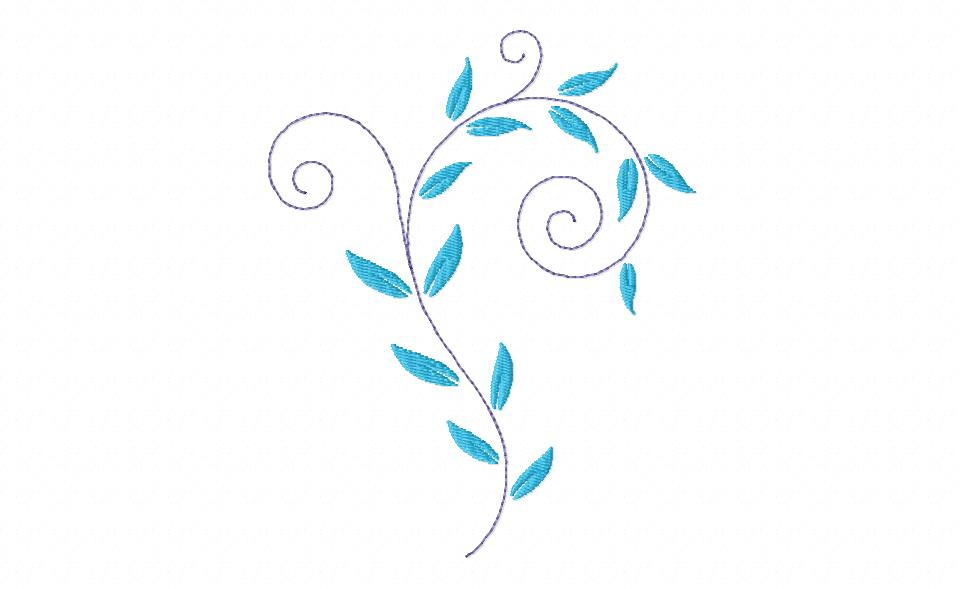 on leaf blue - photo #26