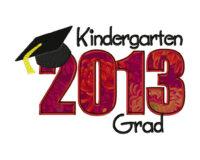Kindergarten Grad 2013 6X10 Hoop