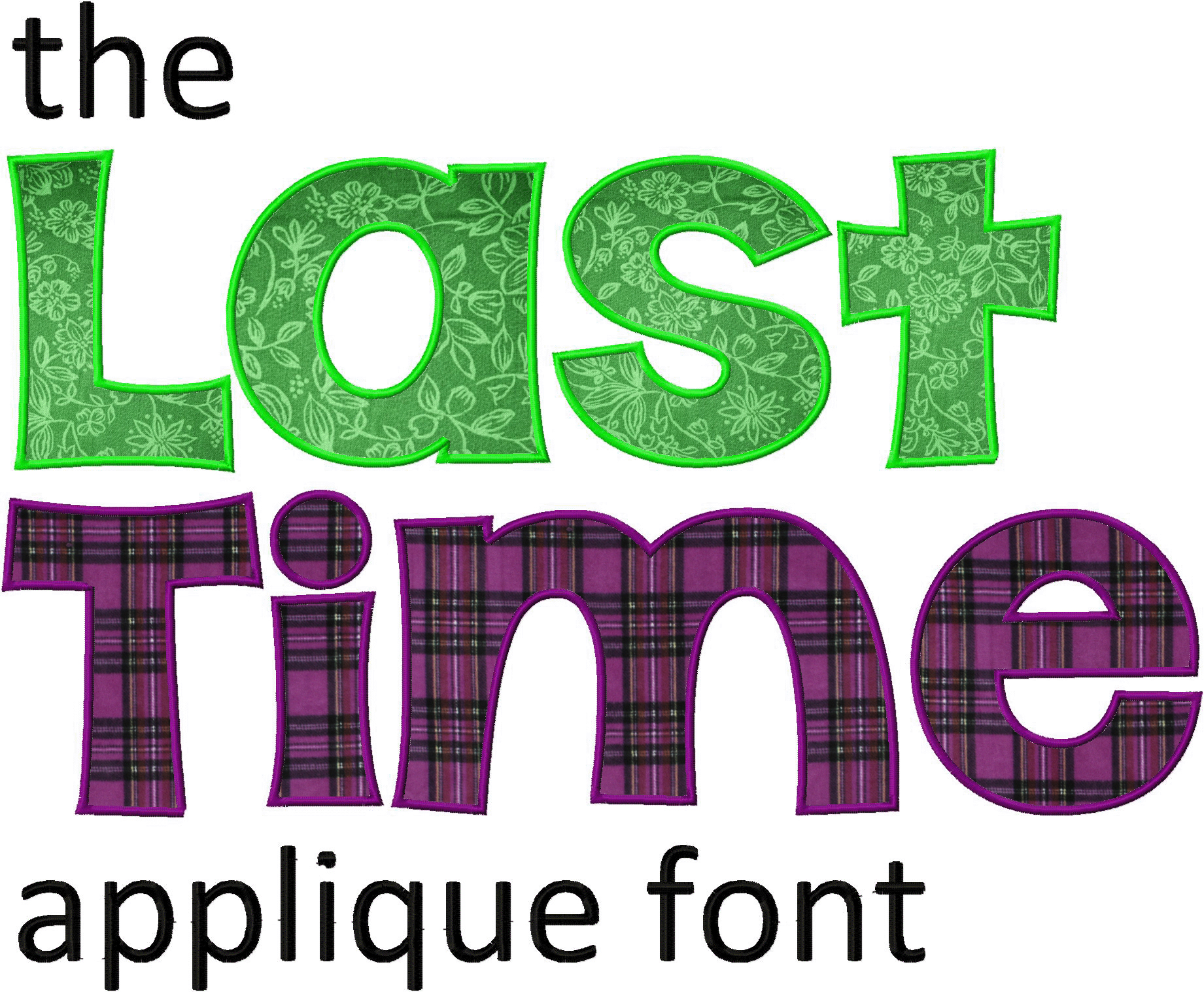 applique fonts machine embroidery