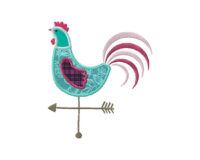 Rooster-Weathervane-Applique-5_5-Inch