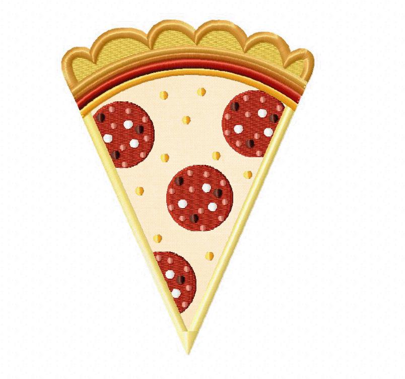 Applique Embroidery Pizza Design