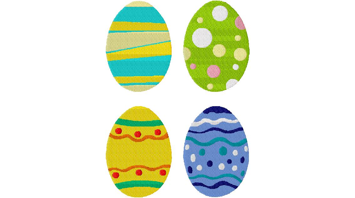 Easter egg variety pack machine embroidery design