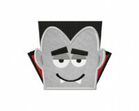 Drac Head Applique 5_5 Inch