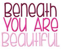 Beneath Your Beautiful Example