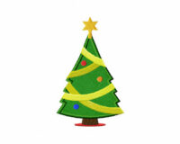 Christmas-tree-1-Applique-5_5 Inch Inch
