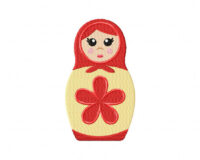Red Stacking Doll 5_5 Inch