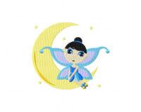 Fairy On Moon 5 Inch