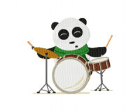 Panda on Drums 5_5