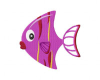 Purple Fish 5_5 Inch