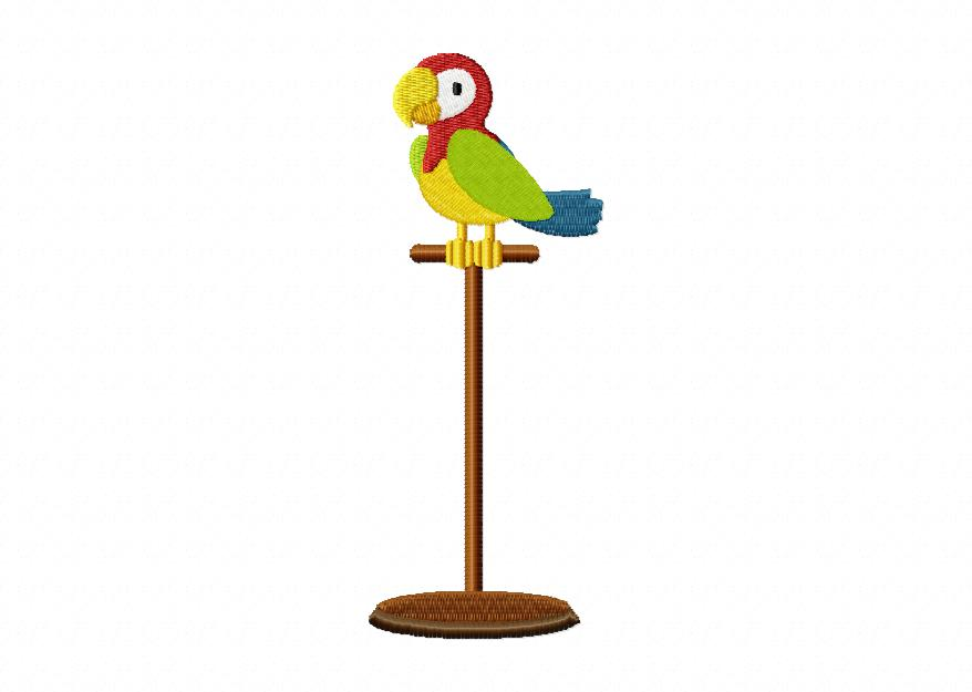 Parrot on Perch Machin...