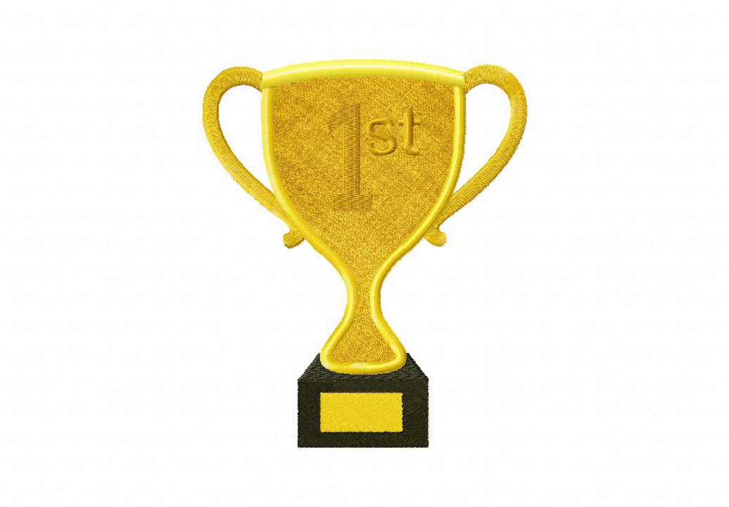 First Place Trophy Includes Both Applique and Stitched