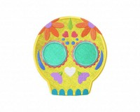 Flower-Skull-Applique-5x7-Inch