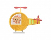 Lion-in-Helicopter-Applique-5x7-Inch