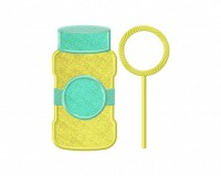 Bubbles-Bottle-Applique-5x7-Inch