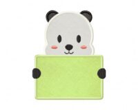 Panda-Holding-Card-Applique-5x7-Inch