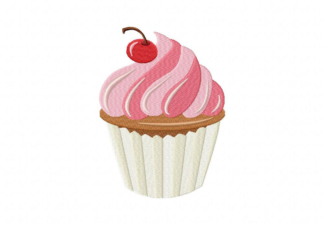 Home / Food & Music / Yummy Swirly Cupcake Machine Embroidery Design