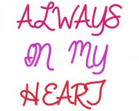 AlwaysInMyHeartFont