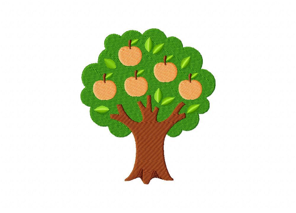 Peach tree machine embroidery design for Peach tree designs