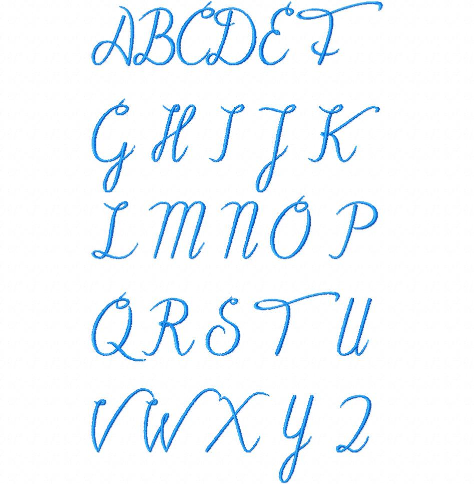machine embroidery font