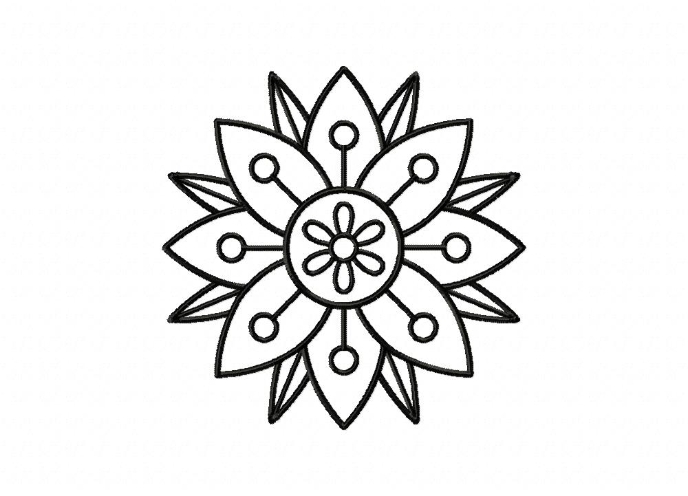 Layered Flower Drawing Layered Flower Doodle Outline