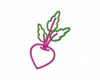 Radish Outline 5_5 in