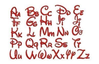 Walt Disney Style Machine Embroidery Font Set